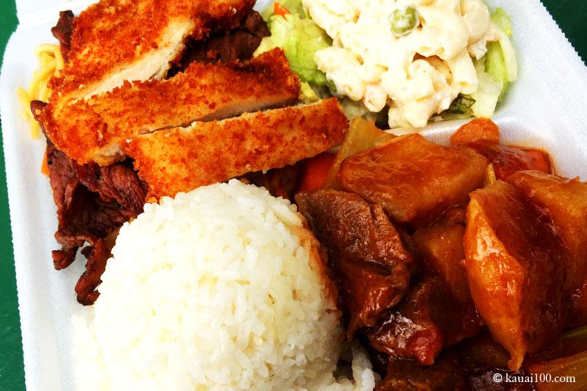 カウアイ島マークスプレイスの弁当ボックス