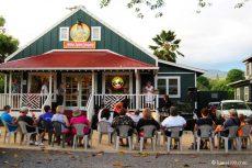 カウアイ島ハナペペ・アート・ナイトの路上ライブ