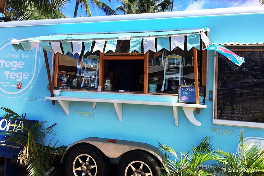 カウアイ島の人気シェイブアイストラックTegeTege