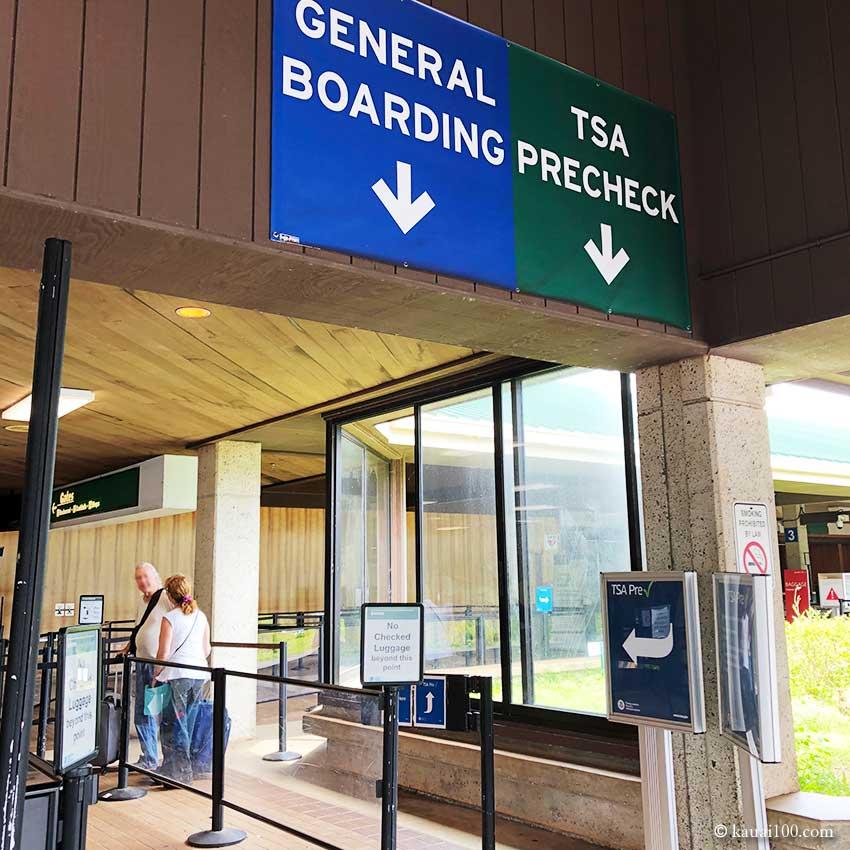 リフエ空港 TSAセキュリティーチェックポイント入口