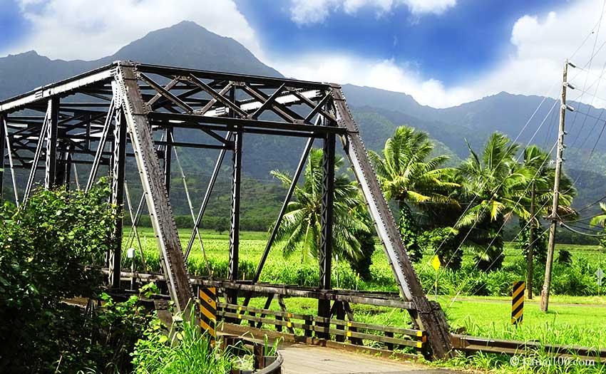 カウアイ島のハナレイ・ブリッジ