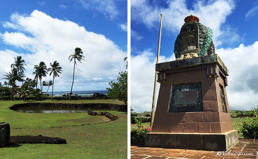 ハワイ・カウアイ島 プリンスクヒオ像