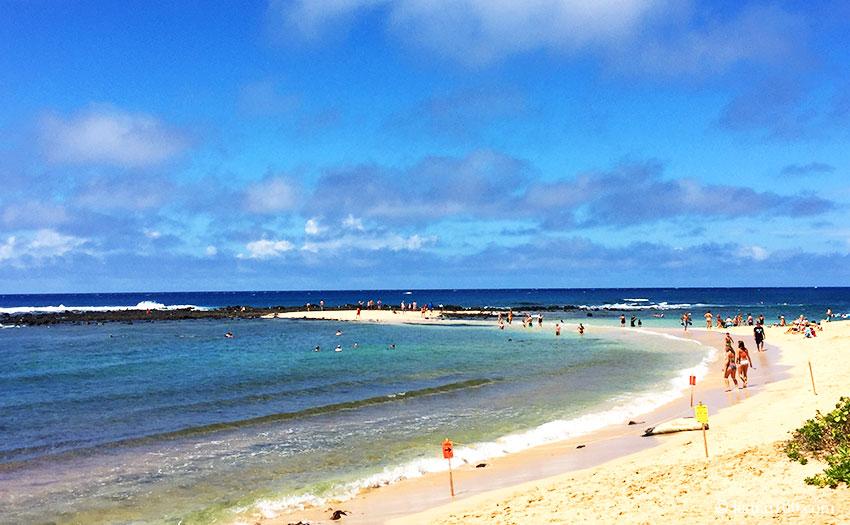 ハワイ州カウアイ島のポイプビーチパーク
