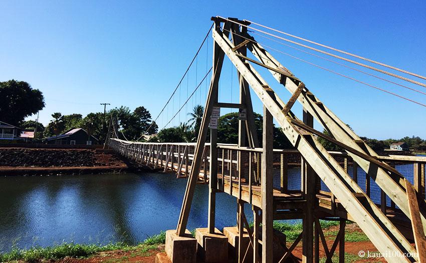 ハワイ・カウアイ島 ハナペペ・スウィンギング・ブリッジ