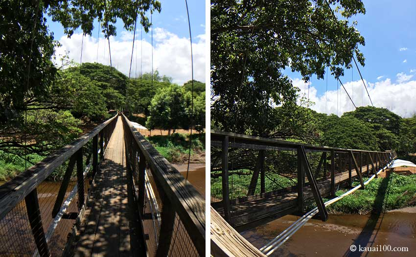 カウアイ島 Waimea Swinging Bridge
