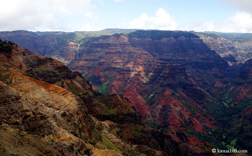 ハワイ州カウアイ島のワイメア渓谷