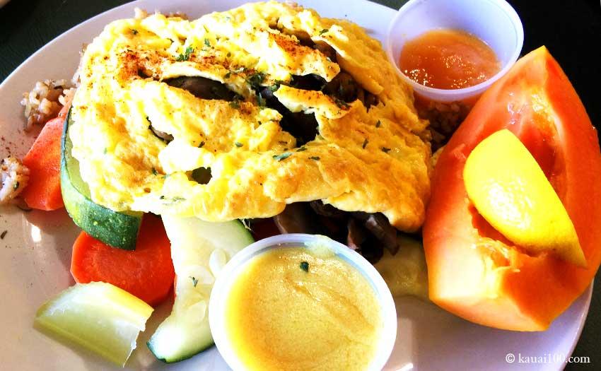カウアイ島オノ・ファミリー・レストランの卵料理