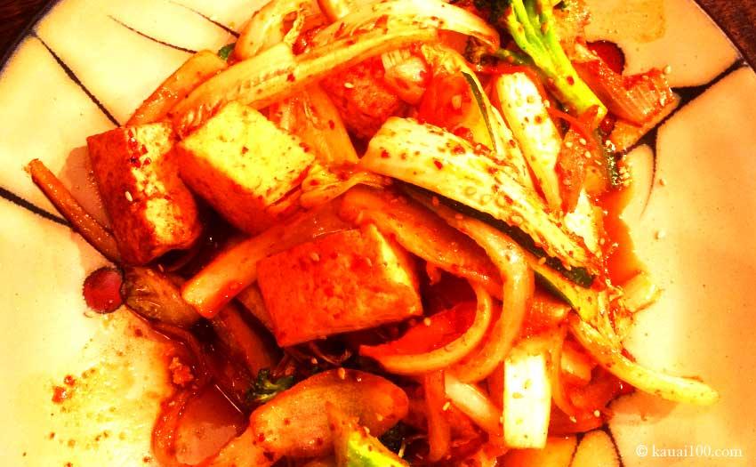 カウアイ島コリアン・バーベキュー・レストランのキムチ料理