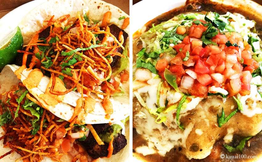 カウアイ島ベルデのメキシカン料理