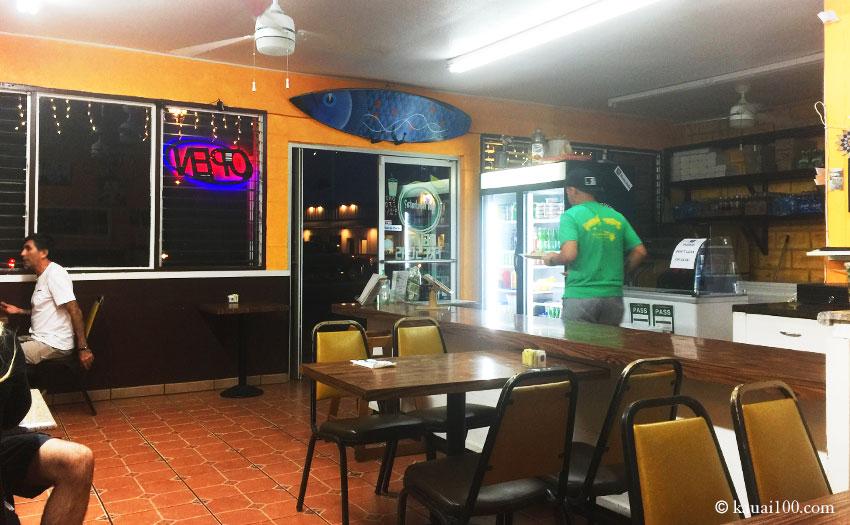 カウアイ島PacosTacosカパア店の店内