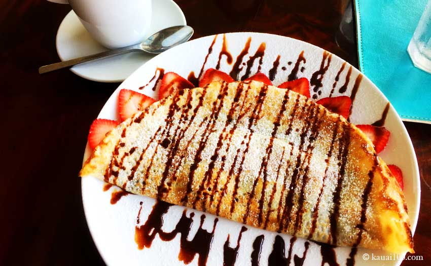 ハワイ・カウアイ島のArt Cafe Hemingway