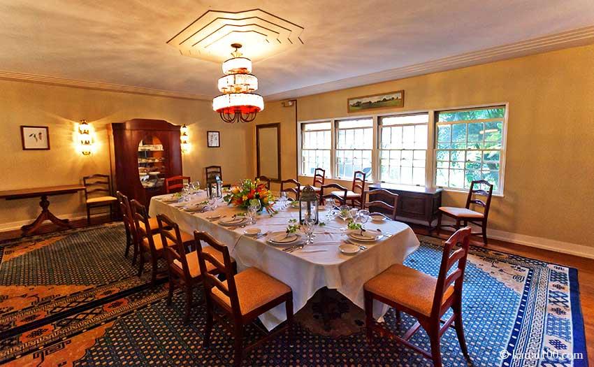 ゲイロード・レストランの個室