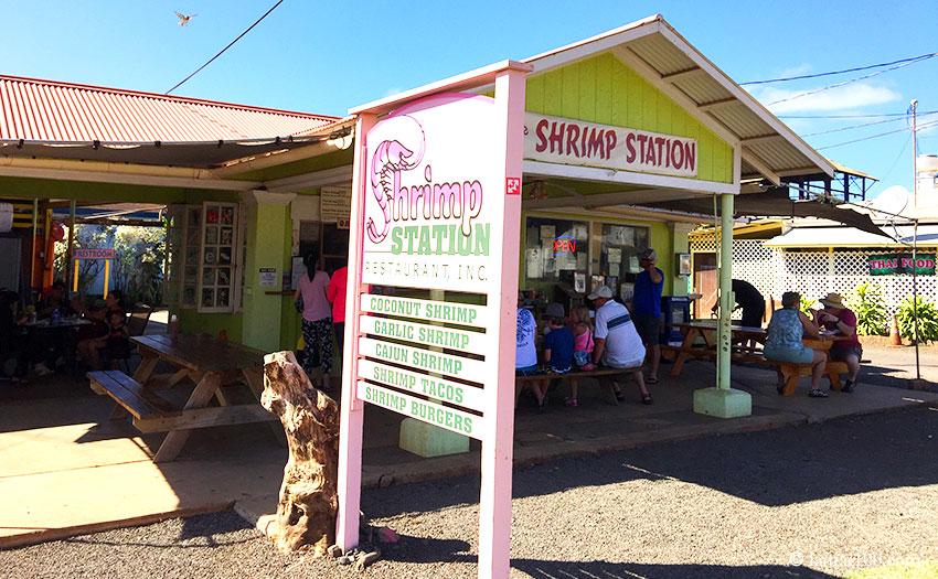 ハワイ・カウアイ島のシュリンプステーション ワイメア店